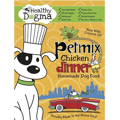 Healthy Dogma PetMix Chicken Dinner Homemade Dog Food, 10-Bag