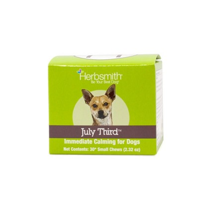 Herbsmith July Third Soft Chews Immediate Calming Supplement for Dogs, Small 30ct
