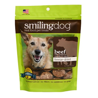 Herbsmith Smiling Dog Beef Recipe Freeze Dried Dog Treats