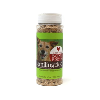 Herbsmith Smiling Dog Kibble Seasoning Freeze Dried Chicken Bone Broth Dog Food Topper