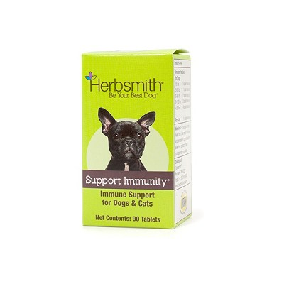 Herbsmith Herbal Blends Support Immunity Tablets Dog & Cat Supplement, 90-Count
