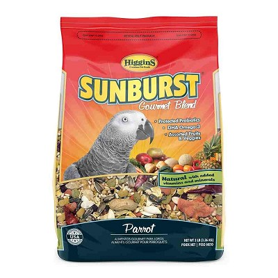 Higgins Sunburst Gourmet Blend Macaw Food, 3-lb Bag