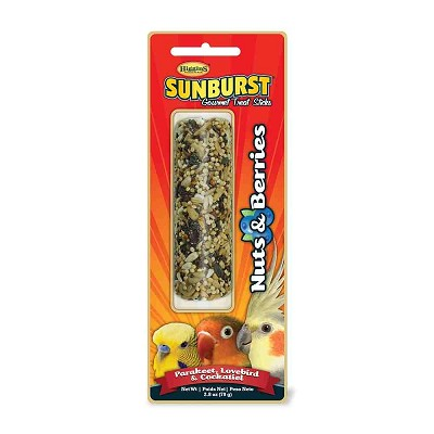 Higgins Sunburst Nut & Berry Gourmet Treat Stick for Parakeet, Lovebird and Cockatiel