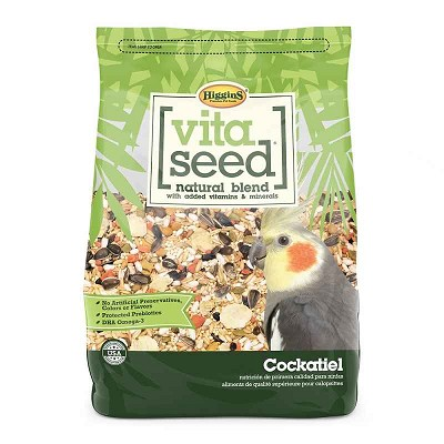 Higgins Vita Seed Cockatiel Food, 5-lb Bag