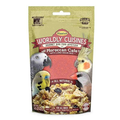 Higgins Worldly Cuisines Moroccan Cafe Prepare-At-Home Bird Food Snack, 2-oz Bag