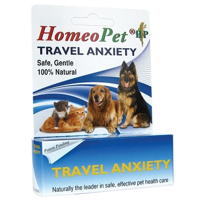 HomeoPet Travel Anxiety Relief Remedy for Dogs and Cats
