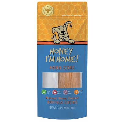 Honey I'm Home Honey Coated Buffalo Horn Core Dog Chew