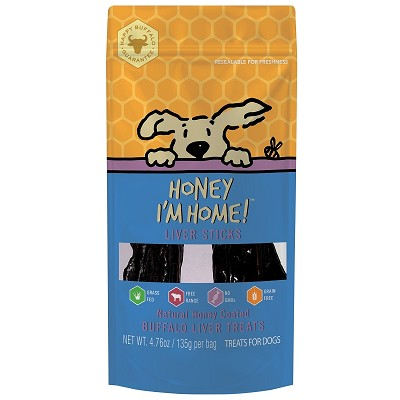 Honey I'm Home Honey Coated Buffalo Liver Sticks Dog Treats