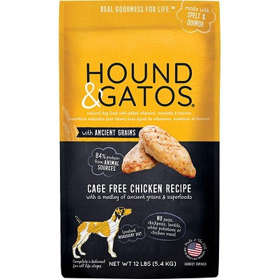 Hound & Gatos Ancient Grain Cage-Free Chicken Recipe Dry Dog Food, 24-lb Bag