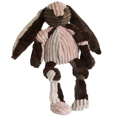 Discontinued, HuggleHounds Knotties Patchie Bunny Dog Toy