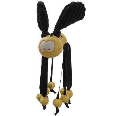 Discontinued, HuggleHounds Dog Toys Wiley the Bee Major, Large