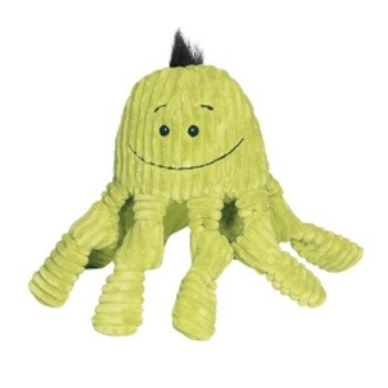 HuggleHounds Knotties Green Octopus Dog Toy