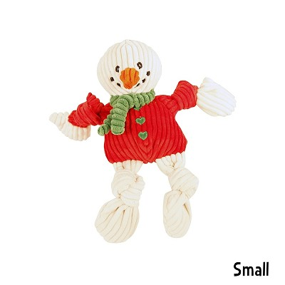 hugglehounds holiday knotties snowman christmas dog toy small