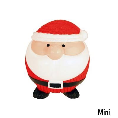 HuggleHounds Ruff-Tex Santa Ball Christmas Dog Toy, Mini