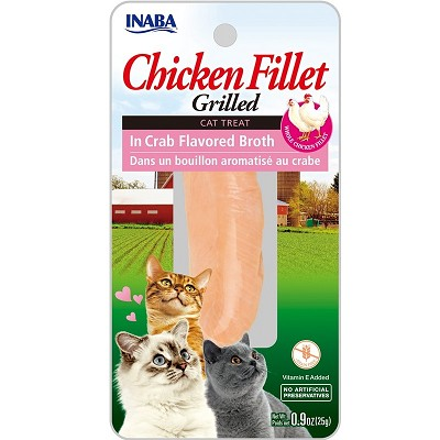 Inaba Ciao Grain-Free Grilled Chicken Fillet in Crab Flavored Broth Cat Treat