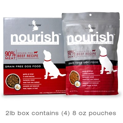Isle Of Dogs Nourish Air Dried Beef Recipe Dog Food, 2-lb