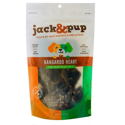 Jack & Pup Kangaroo Hearts Dog Treats, 4-oz Bag