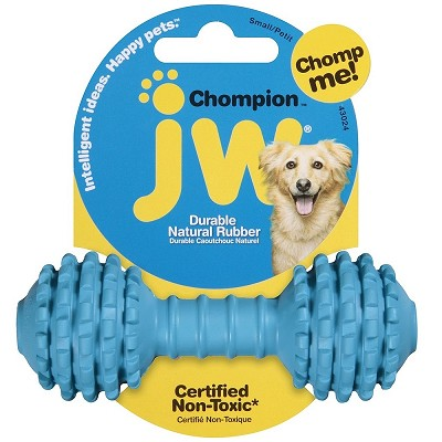 JW Pet Chompion Rubber Dog Toy, Lightweight