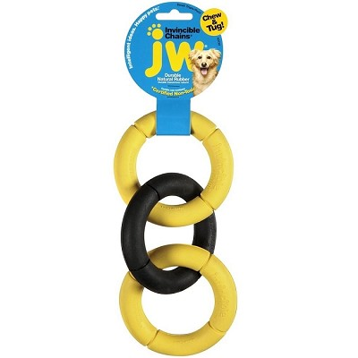 JW Pet Triple Ring Invincible Chains Dog Toy, Small
