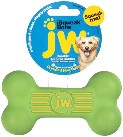 JW Pet iSqueak Bone Dog Toy, Small