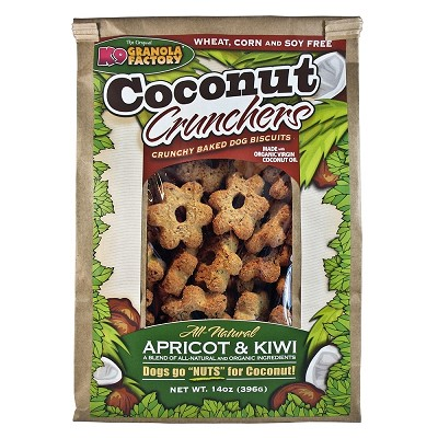 K9 Granola Factory Coconut Crunchers Apricot and Kiwi Dog Treats