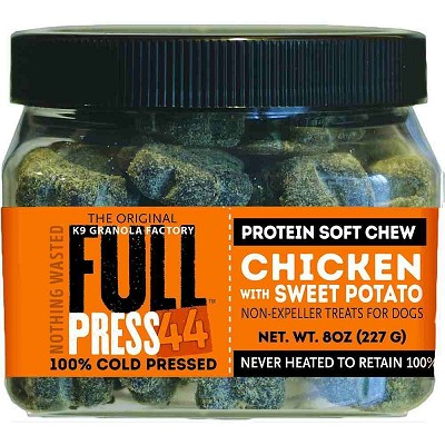 K9 Granola Factory FULL Press 44 Cold Pressed Chicken with Sweet Potato Dog Treats, 8-oz
