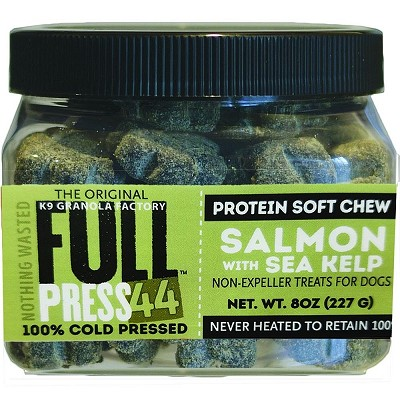 K9 Granola Factory FULL Press 44 Cold Pressed Salmon with Sea Kelp Dog Treats, 8-oz