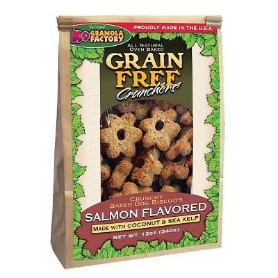 K9 Granola Factory Grain-Free Salmon Crunchers with Coconut and Kelp Dog Treats