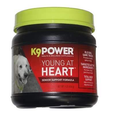 K9 Power Young at Heart Senior Support Dog Supplement, 1-lb
