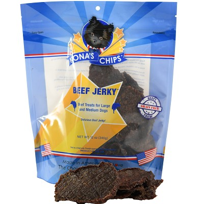 Kona's Chips USA Beef Jerky Dog Treats, 12-oz Bag