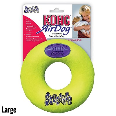 Kong Air Squeaker Donut Dog Toy, Large