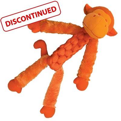 Kong Braidz Fuzzy Monkey Dog Toy, Medium, Discontinued