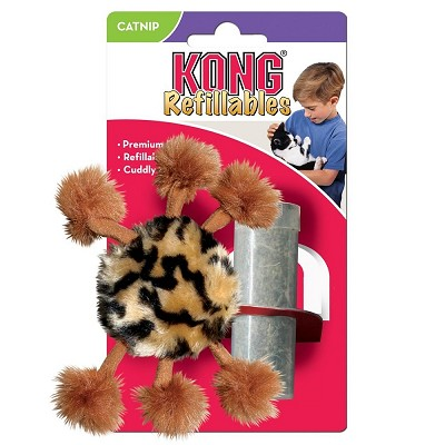 KONG Refillable Daddy Pompom Legs Catnip Cat Toys