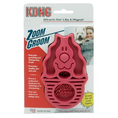 KONG Zoom Groom for Dogs, Raspberry