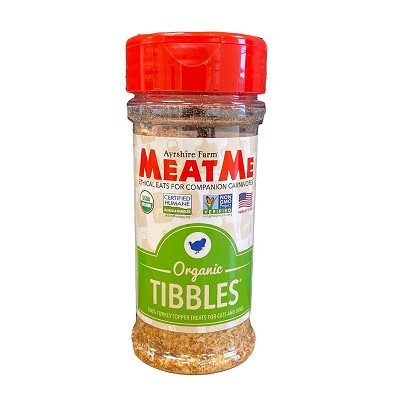MeatMe Organic Tibbles Turkey Toppers for Dogs and Cats