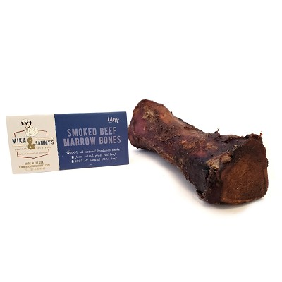 Mika & Sammy's Smoked Beef Marrow Bone for Dogs, Large