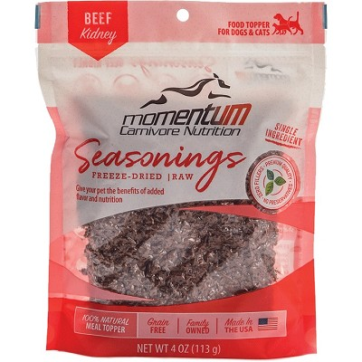 Momentum Beef Kidney Seasonings Food Topper for Dogs & Cats, 4-oz Bag