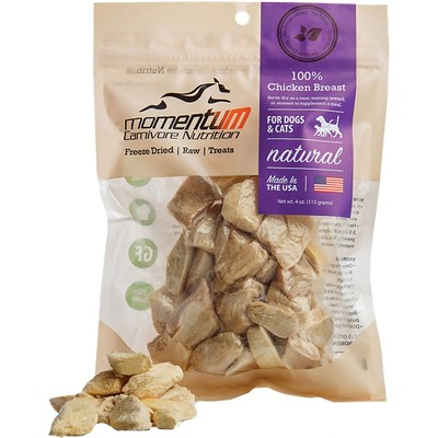 Momentum Freeze-Dried Chicken Breast for Dogs & Cats, 4-oz Bag