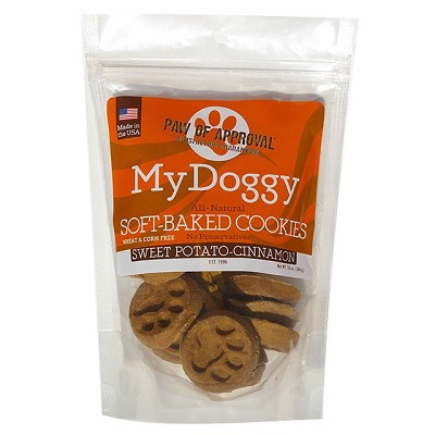 My Doggy Sweet Potato-Cinnamon Soft-Baked Cookies Dog Treats, 10-oz Bag