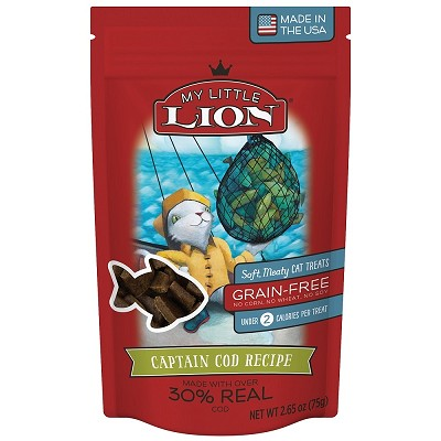 My Little Lion Captain Cod Recipe Soft Cat Treats, 2.65-oz Bag