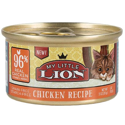 My Little Lion Chicken Recipe Canned Cat Food 3 Oz Case Of 24