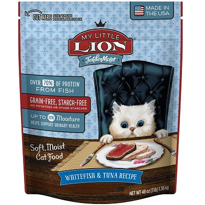 My Little Lion Tender Moist Whitefish & Tuna Recipe Cat Food, 3-lb Bag