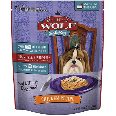 My Little Wolf Tender Moist Chicken Recipe Dog Food, 3-lb Bag