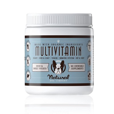 Natural Dog Company MultiVitamin Chewable Supplement for Dogs, 90-Count