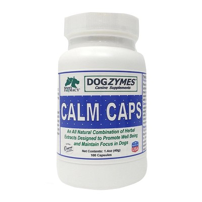 Nature's Farmacy Dogzymes Calm Caps Dog Supplement, 100-Count