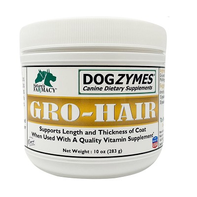 Nature's Farmacy Dogzymes Gro-Hair Dog Supplement, 10-oz