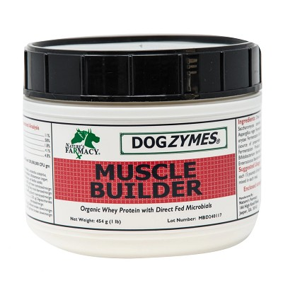Nature's Farmacy Dogzymes Muscle Builder Dog Supplement, 1-lb