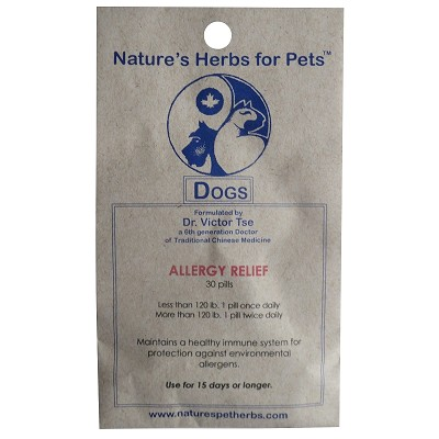 Nature S Herbs For Pets Allergy Relief Dog Supplement
