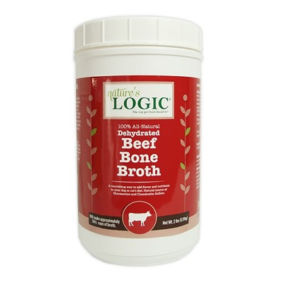 Nature's Logic Dehydrated Beef Bone Broth for Dogs, 2-lb