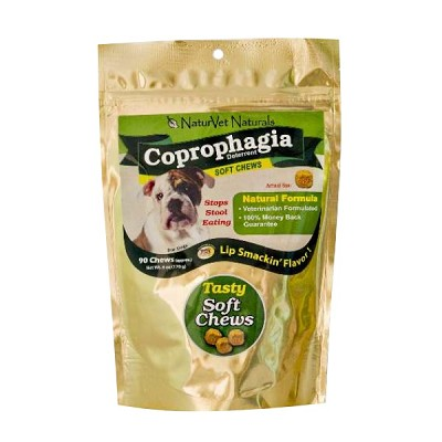 NaturVet Coprophagia Stop Stool Eating Deterrent Dog Soft Chews, 90 Count